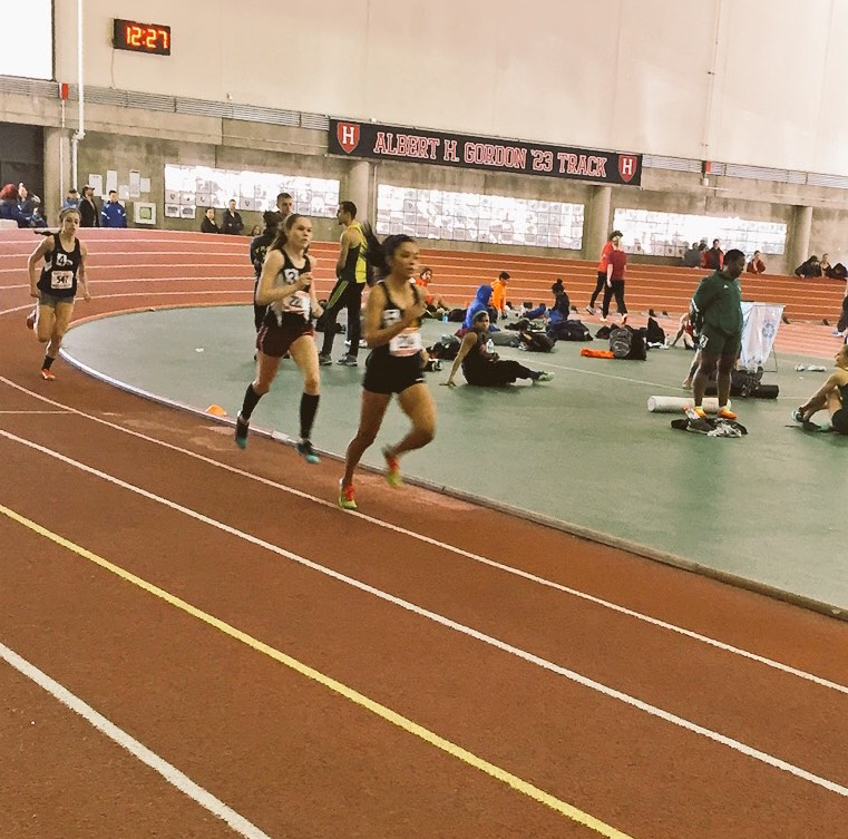 Racing the 800m.