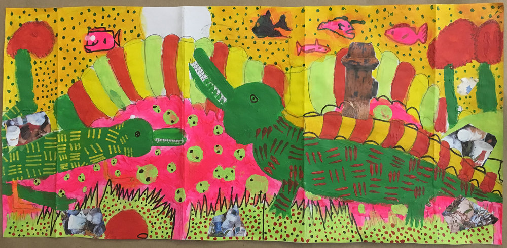 "original artwork ""Colorful Animals"" by Savion Love and Damon Perry Jr."