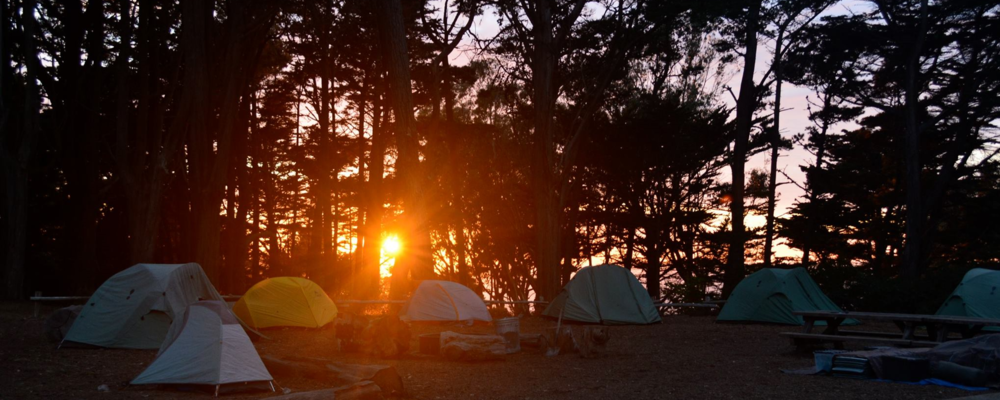Camping at the Presidio  (CAP)  Program in Golden Gate National Recreation Area