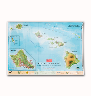 Hawaiian studies bess press map of hawaii combined with pacific centered world map gumiabroncs Image collections