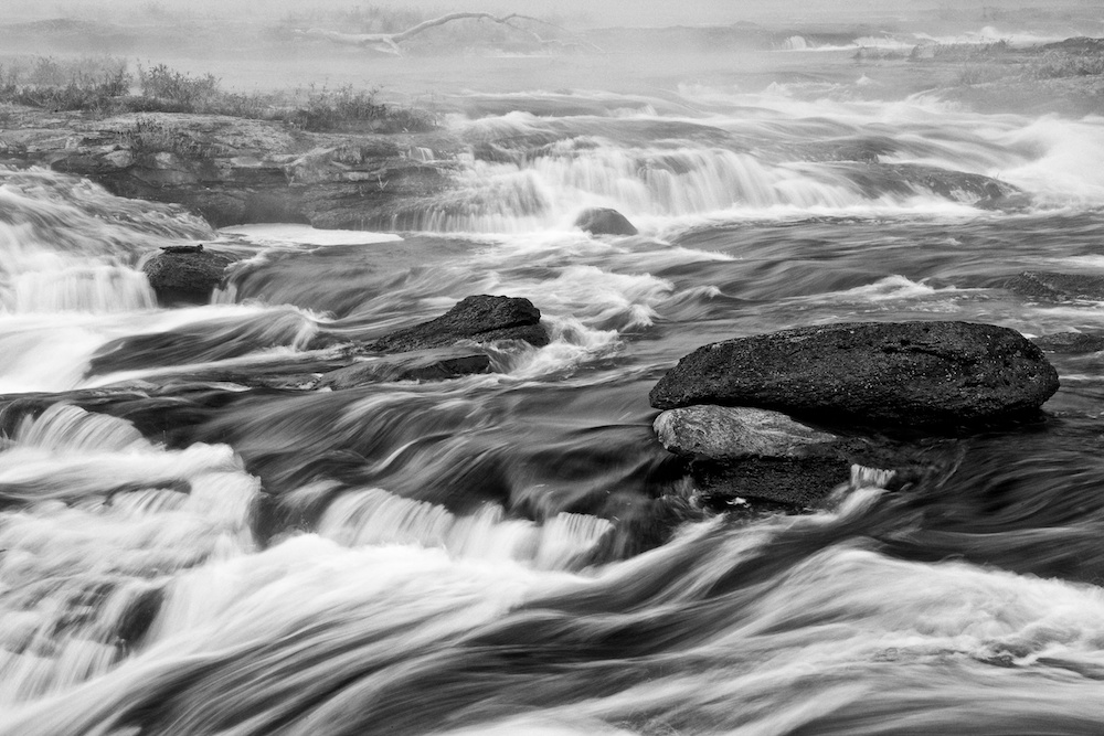 River Flow in Black and White