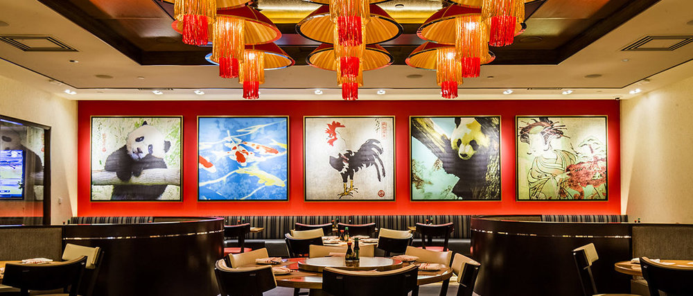The debut of Ondori Asian Kitchen followed the closure of Koji sushi bar. Its interior showcases panda and rooster art by Graphic Encounter Fine Art: This is the Year of the Rooster, after all.