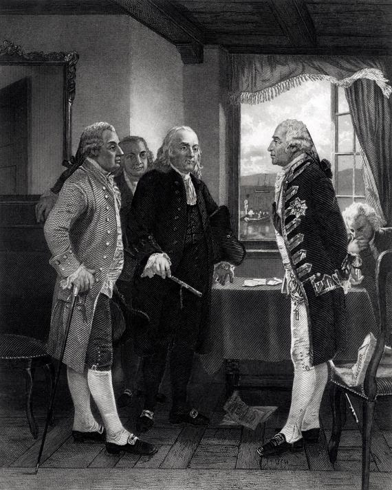 The Peace Conference on Staten Island, Interview between Lord Howe and the Committee of Congress, 11th September 1776.