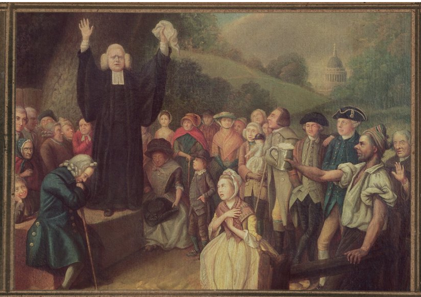 George Whitefield rousing his congregation.
