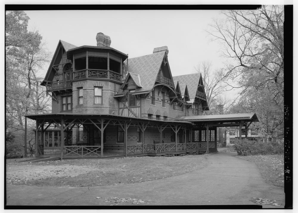 Mark Twain's home, circa 1967