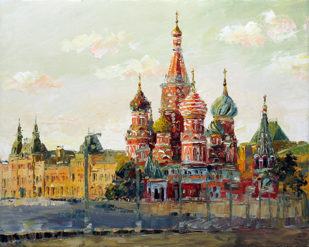 Rendition of Moscow's Red Square