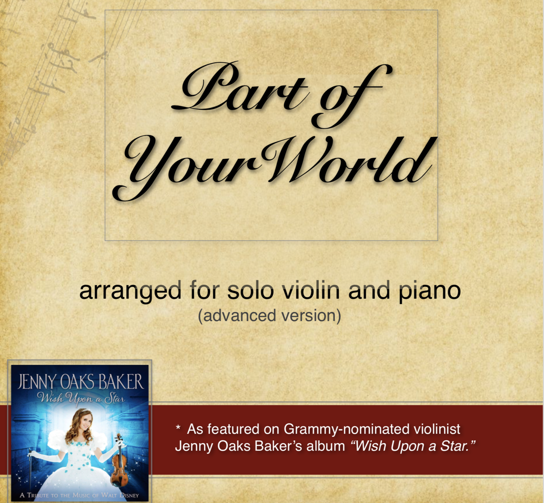 Part of Your World (Original) Sheet Music