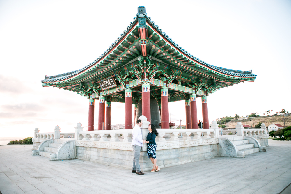 Korean Friendship Bell Engagement Photo