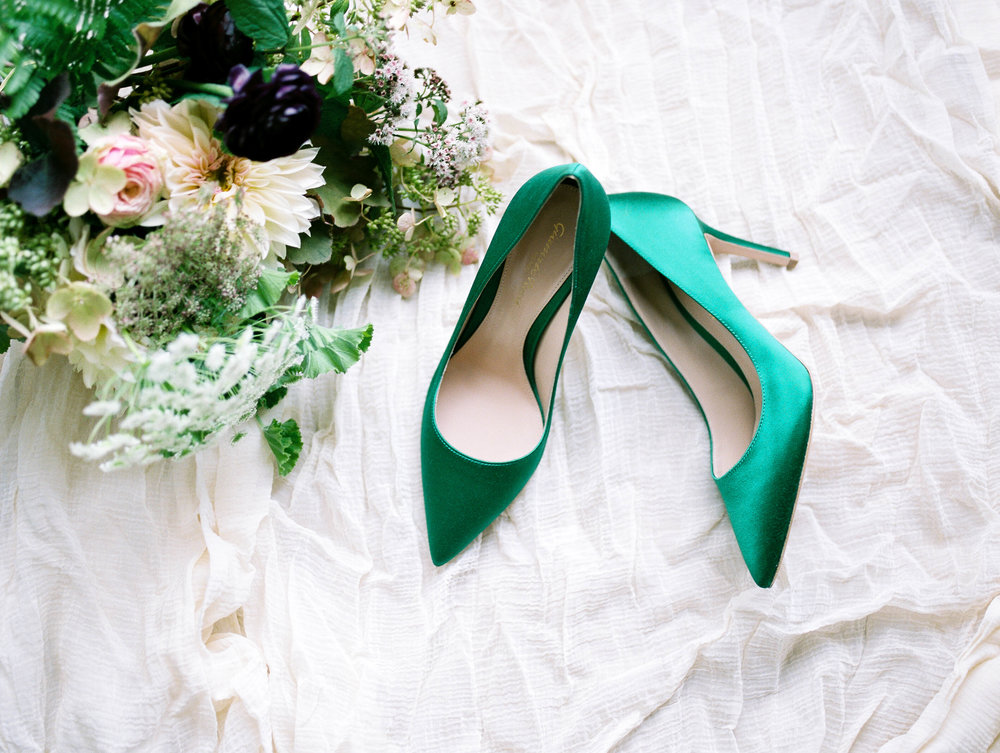 Emerald Green Wedding Shoes - www.jleephotos.com