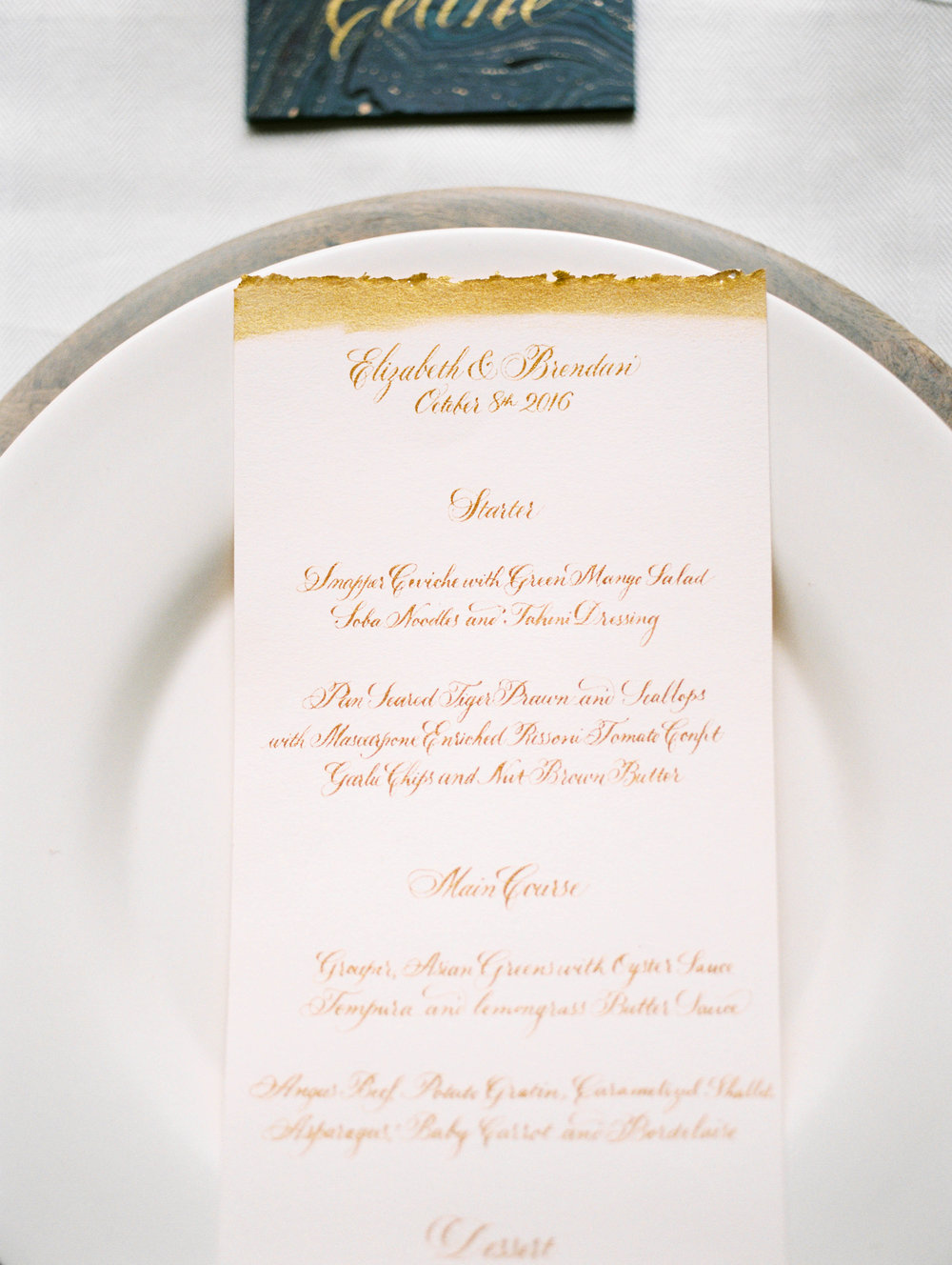 Wedding Dinner Menu - www.jleephotos.com