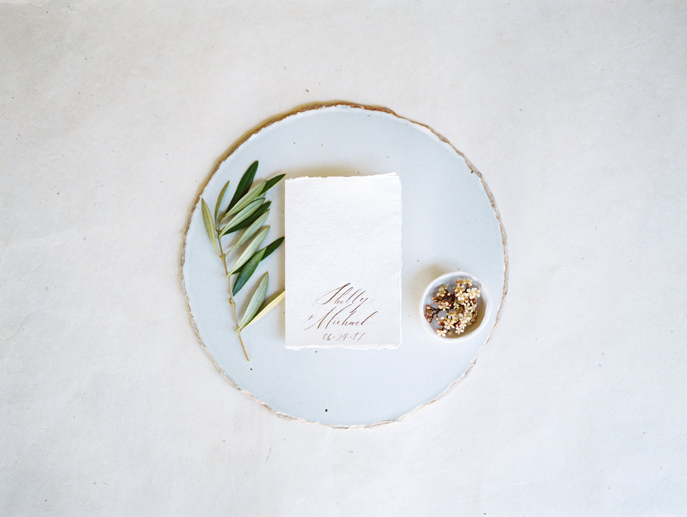 wedding inspiration - simply rooted calligraphy