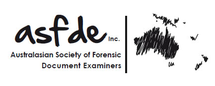 Australasian Society of Forensic Document Examiners Incorporated Logo