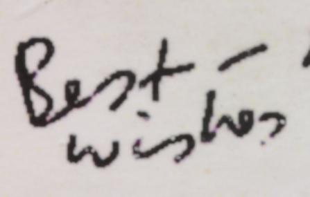 Greeting Card Handwriting