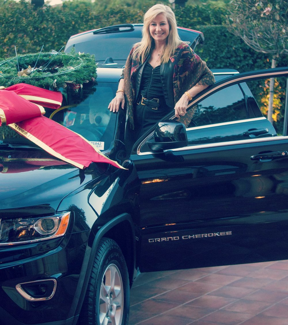 Beth Jupp, winner of our Jeep Grand Cherokee Raffle