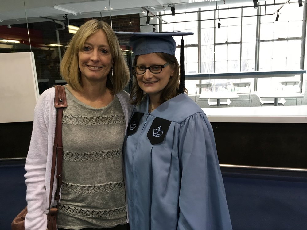Brittany, with her mom, after receiving her Master of Science, Pediatric Primary Care Nurse Practitioner degree, from Columbia University School of Nursing.