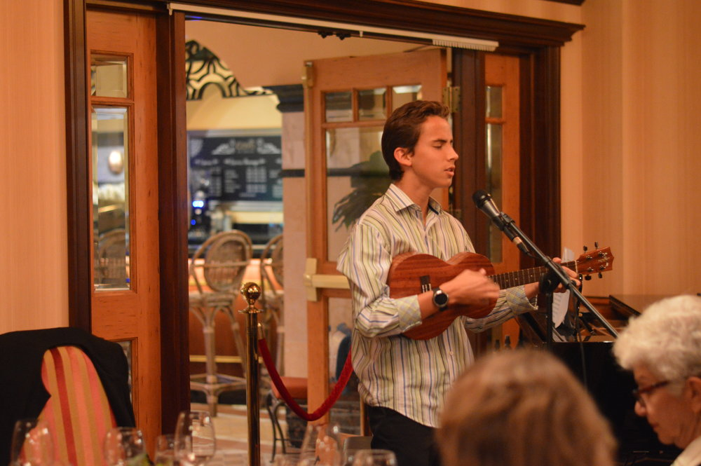 "Joel Gomez performing his single ""Running Blind"" for the guests at Covo"