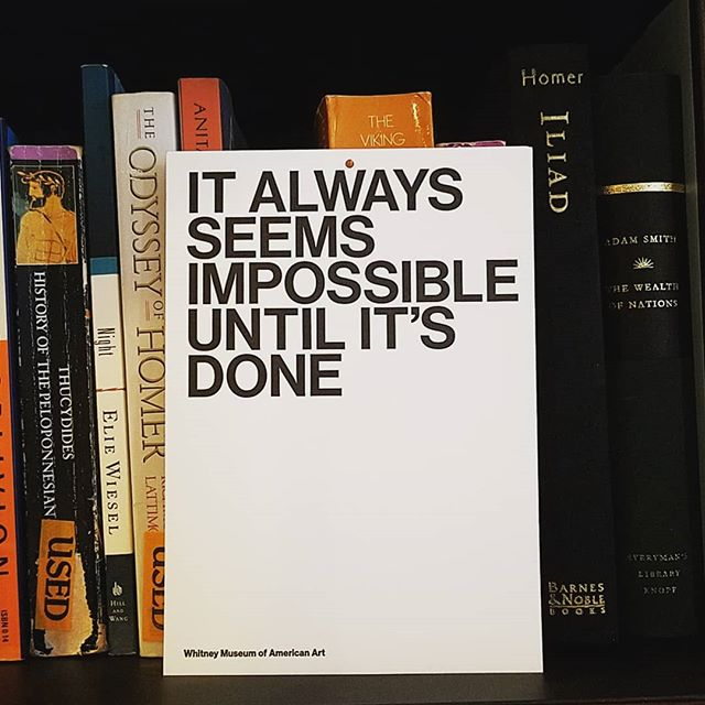 """It always seems impossible until it's done."" That's agency life!  #agency #inspiration #advertising #adagency #getitdone #publicaffairs #work"