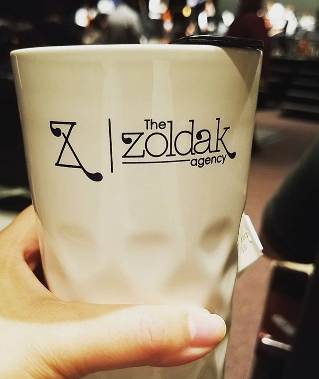 Take our branded mug on the go and send us a snap @thezoldakagency! Our logo has been recognized all over the world.  #branding #Advertising #marketing #logos