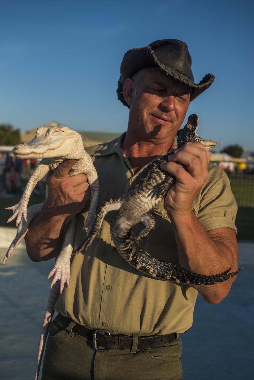 Bert, Alligator Wrangler. New York State Fair