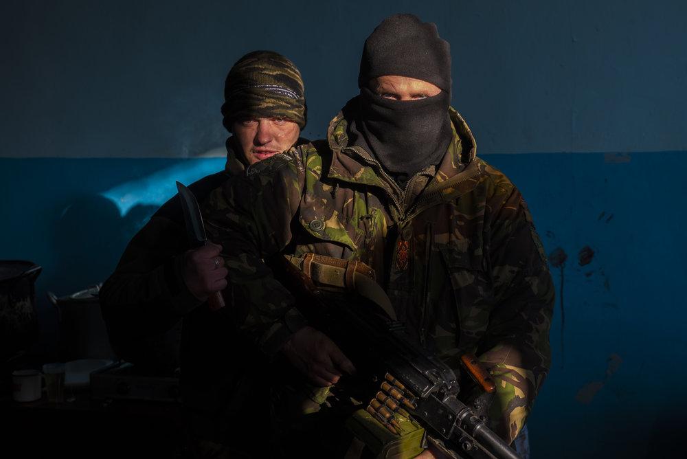 Ukrainian Soldiers after the Battle of Debaltseve. Luhans'ke