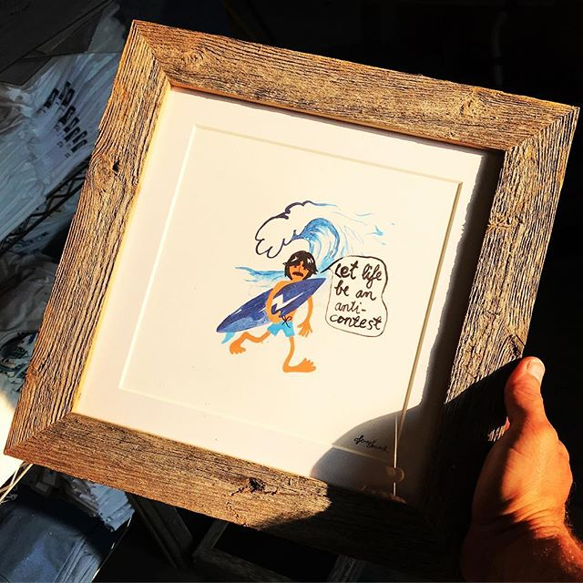 Limited edition giclee prints in custom made reclaimed timber frames from Texas now in @thaliasurf  #letlifebeananticontest  #alohazen