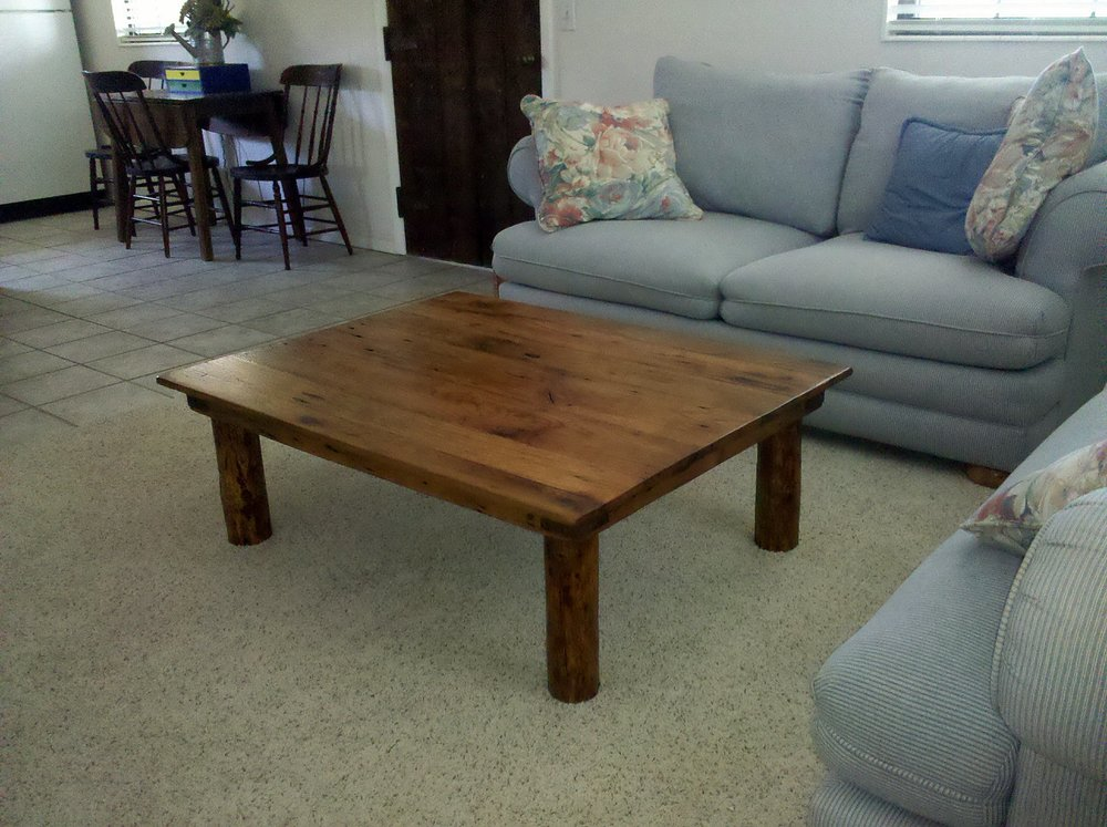 A table made from Tennessee Barn Wood's products!