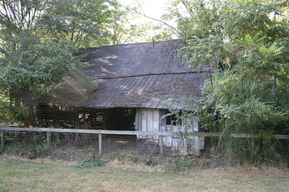 The Turner Barn nestled back in the woods.