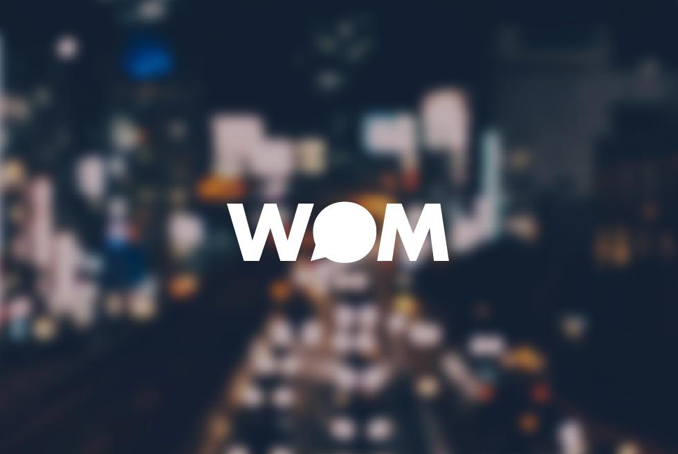 wom logo/pong