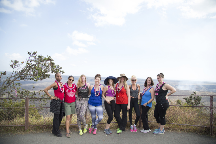 Restore Your Roar 2015 participants at Hawai'i Volcanoes National Park.