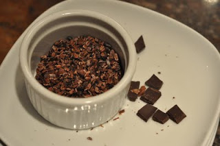 cocoa nibs and chocolate