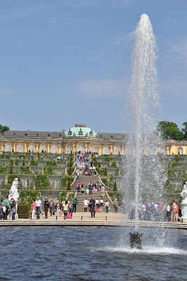 looking up at Sanssouci Palace, Frederick the Great's place