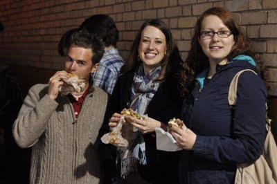 Denis, me & Katy - yummm, burgers