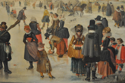 I forgot to note who painted this one/when, but I loved the quirkiness and all the energy in this painting of people skating on the frozen canals.