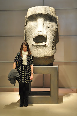 grumpy face with the Easter Island head