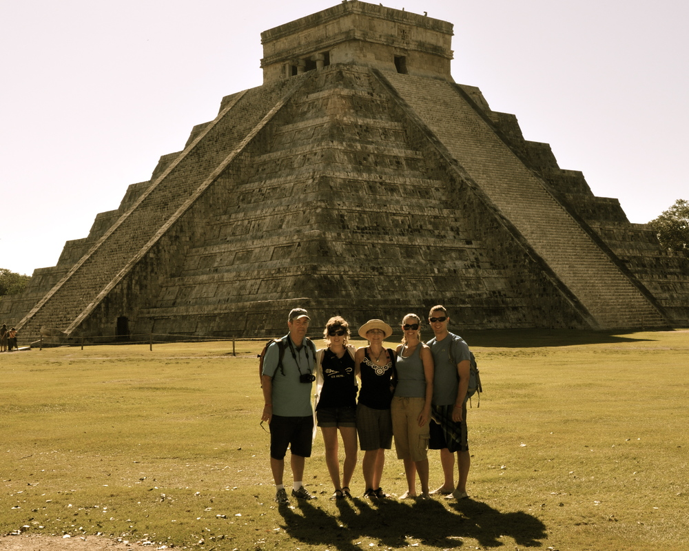 Family pic at Chichen Itza