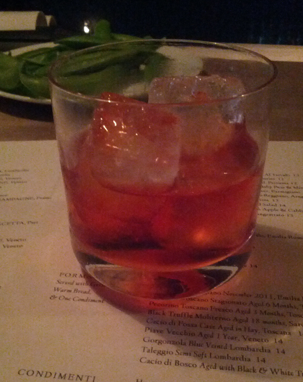 I love a good Negroni...on this evening I loved several of them, ha ha.