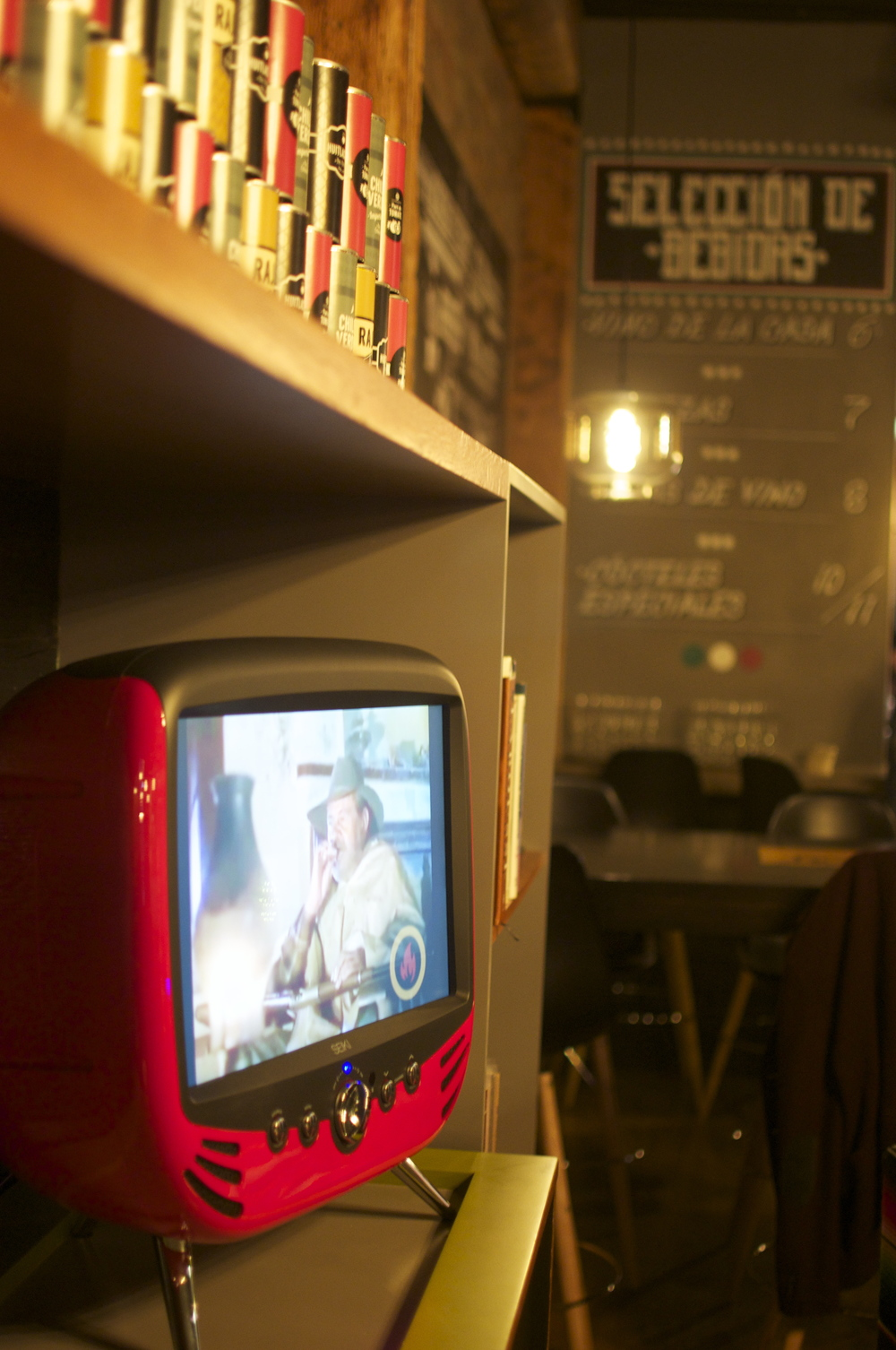 Check out the retro TVs and watch some old-school Mexican shows or browse through the Spanish cookbooks on the shelves in La Sala