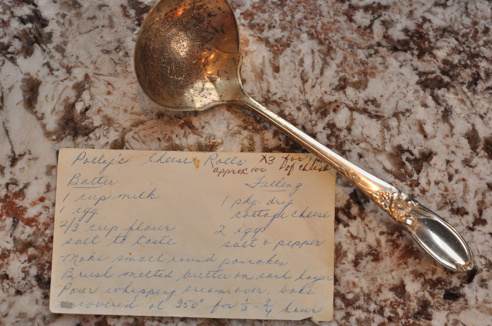 Grandma's recipe & her special 'cheese roll' ladle