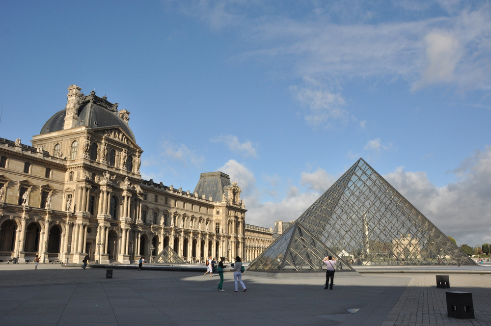 the louvre - the building was originally a palace