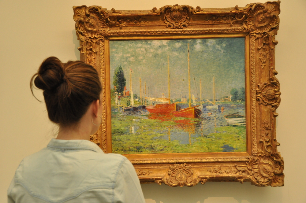 admiring some monet