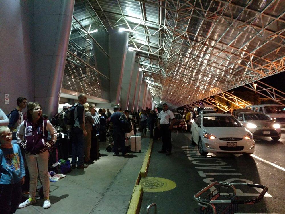 arrival at managua international airport