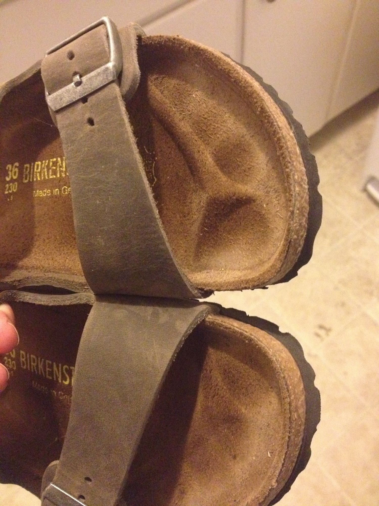 59a51301e3f Here is a gallery of images of the pair I m wearing right out of the box   Birkenstock