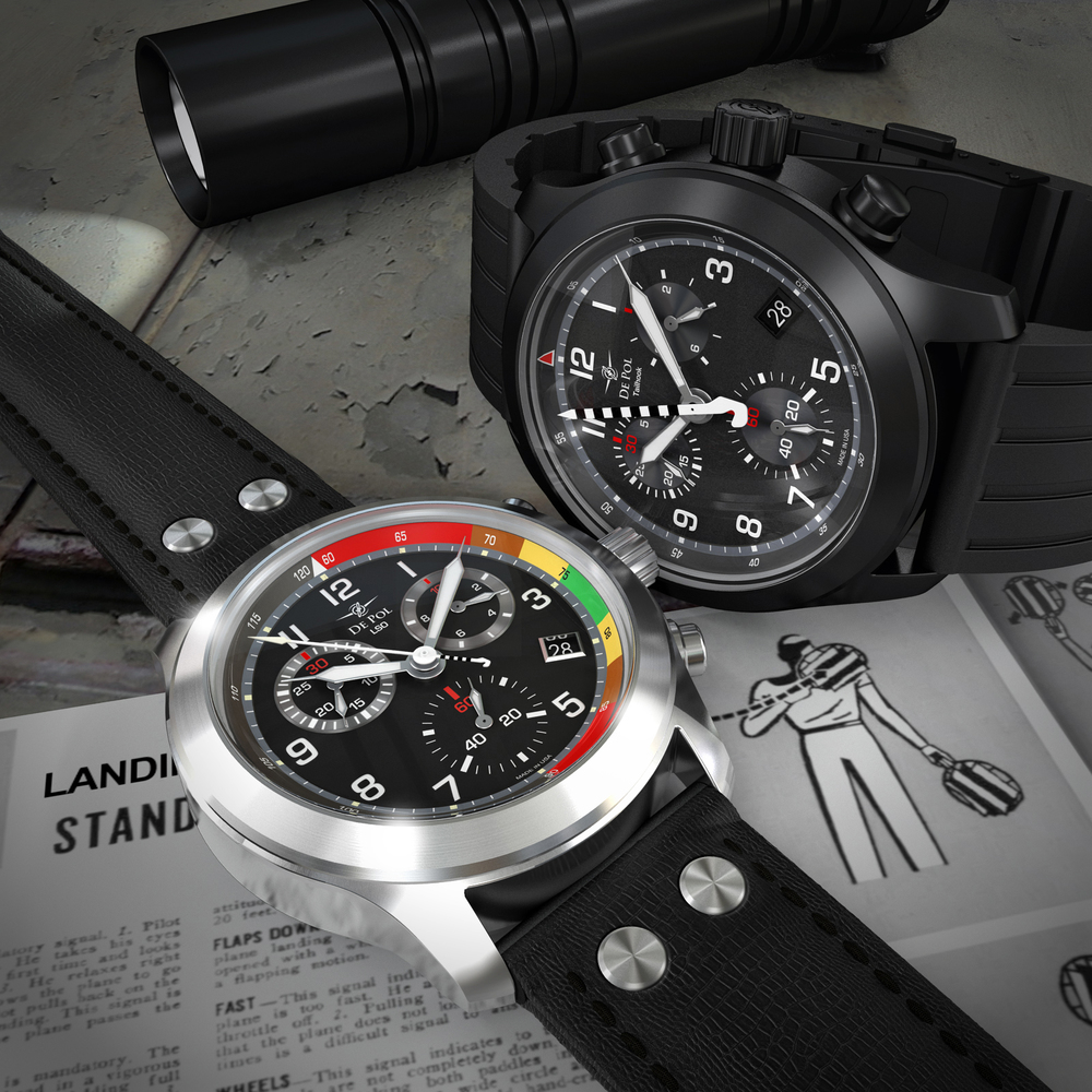 Our first two watch models, the LSO and the Tailhook