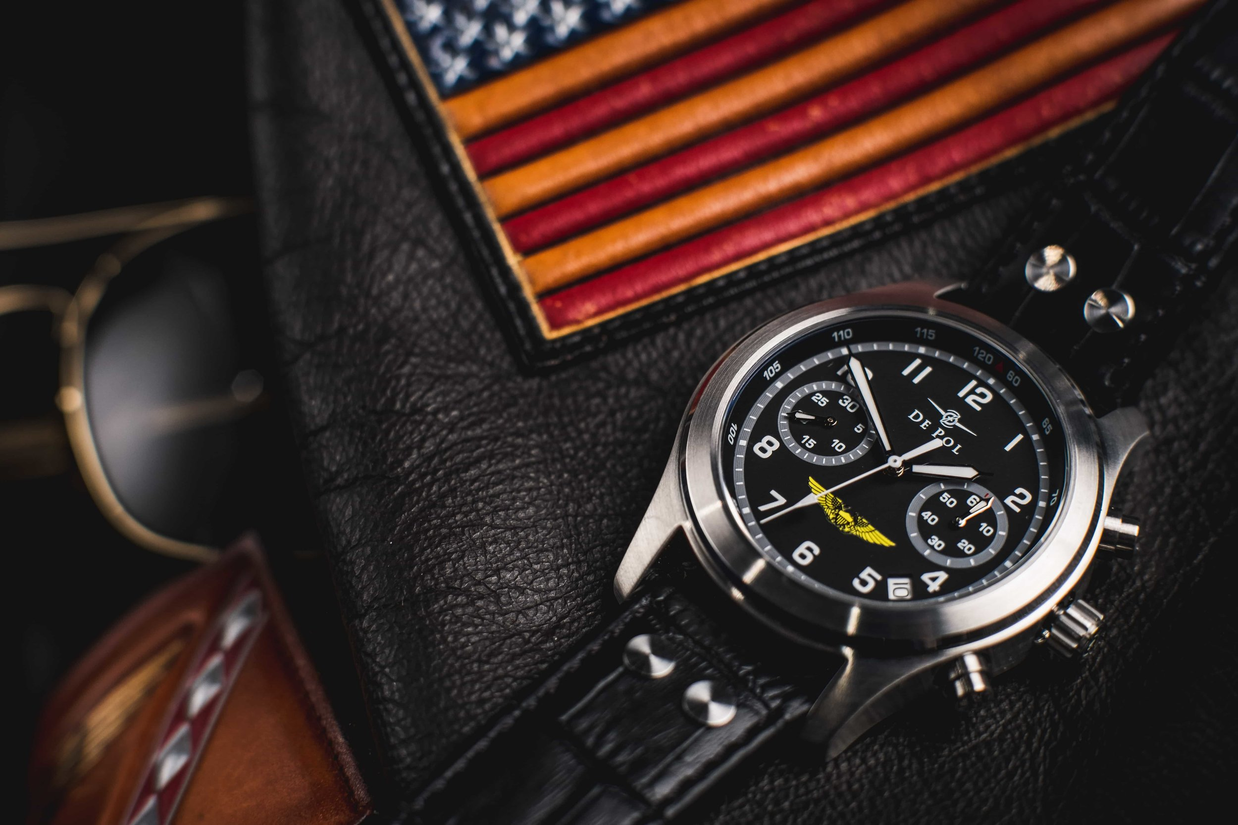 aviator product jm mens strap mason aviation watch pvd watches jack with black nato dial