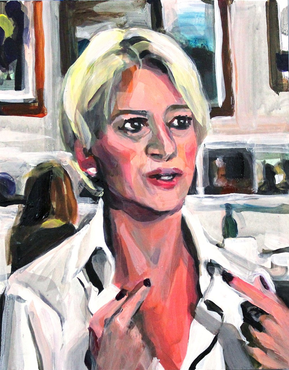 Laura Collins Dorinda Medley Pointing at Herself.JPG