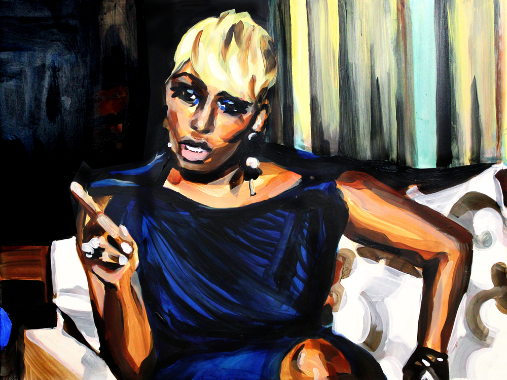 Laura Collins NeNe Leakes Pointing at Sheree 18x24.png