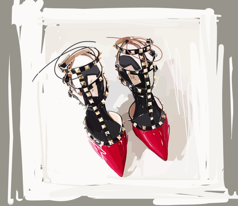 Laura Collins Red Valentino Shoes 2018.png
