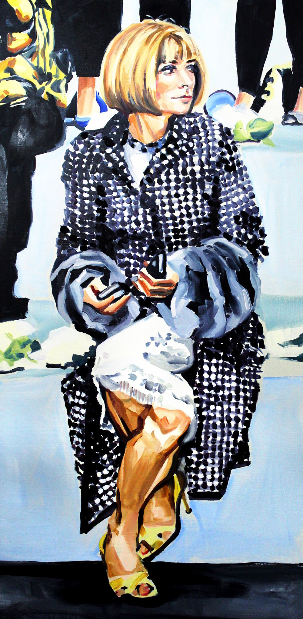 Laura Collins Anna Wintour Double Crossing Her Legs no. 2 oil on linen 24x48 2018.JPG