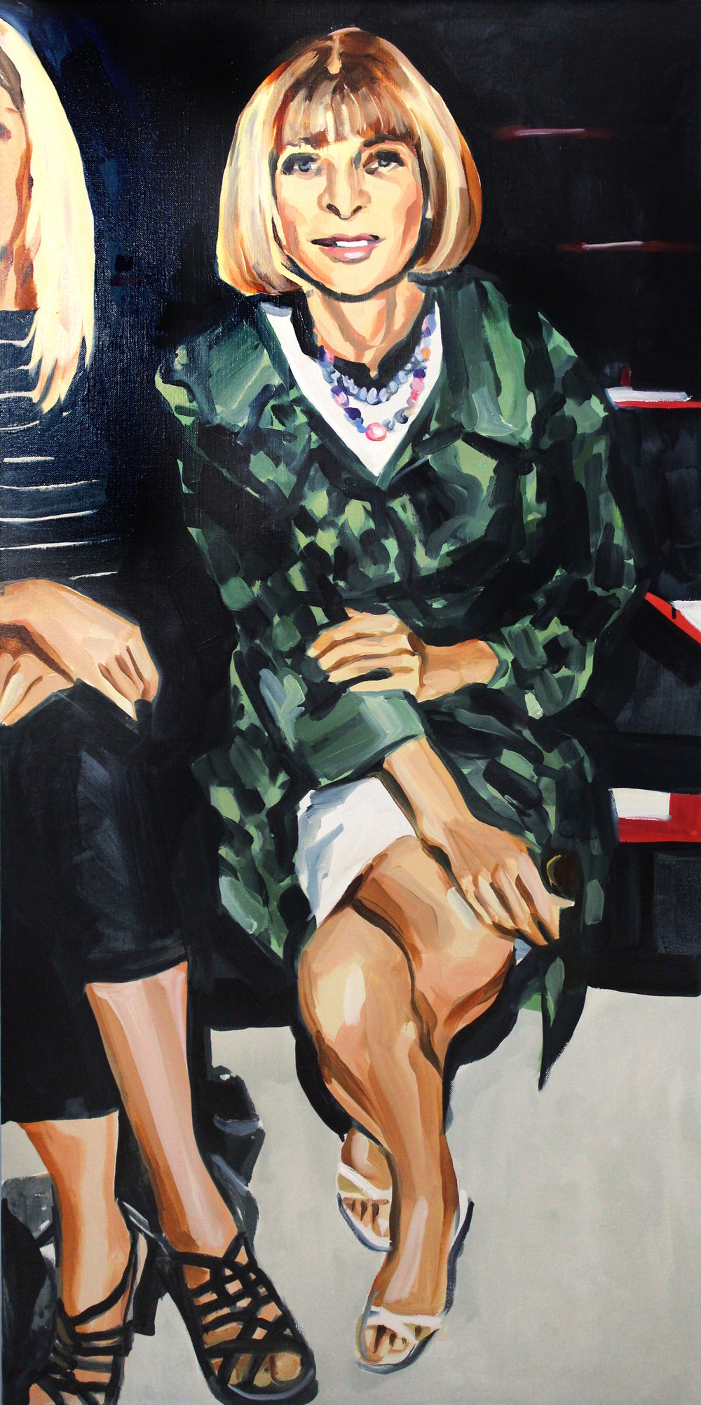 Laura Collins Anna Wintour Double Crossing Her Legs no. 6 oil on linen 24x48 2018 - Copy.JPG