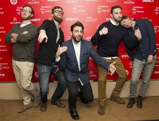 Myself, (left) and the Animals. team at Sundance 2015.  The show premiered the first two episodes at the festival before getting picked up by HBO for their first season.